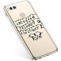 Uposao Handyhülle Huawei Honor 7X Hülle Transparent Silikon Ultra Dünn Schutzhülle Durchsichtig Handyhülle Kristall Weiche Silikon TPU Handytasche Rückschale,Weihnachten Lichter