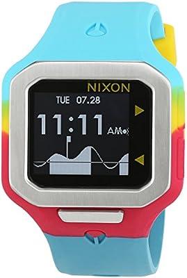 Nixon Supertide Seafoam / Magenta / Yellow A3162005-00 - Reloj unisex, correa de silicona multicolor