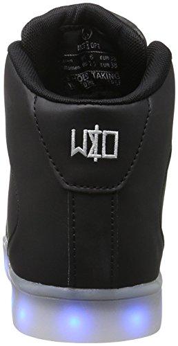 wize & ope LED-Hi, Sneaker Basse Unisex - Adulto Nero (Schwarz (Black 02))