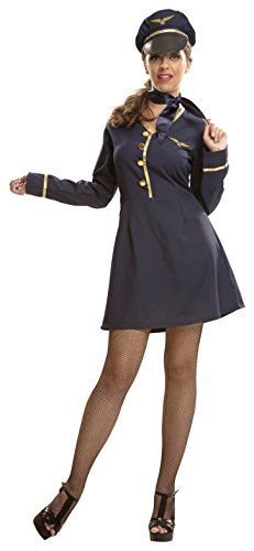 My Other Me Damen Kostüm Stewardess (viving Costumes) S
