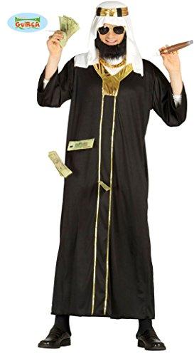 Öl Scheich Araber Karneval Motto Millionär Party Kostüm für Herren Wüste Orient Gr. M-XL, Größe:L (Herren-ol)