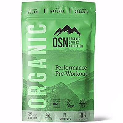 Organic Performance Pre-Workout- Certified Organic | Vegan | 100% Natural pre-Workout | Increase Energy, Focus and Endurance | Fruit Punch, 250g, 25 Servings from Organic Sports Nutrition