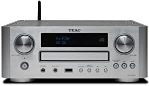 Teac CR-H700-S CD-Receiver mit Airplay Technology (AUX1/2, MW/UKW/RDS-Tuner, USB) silber