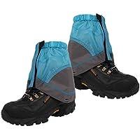 VORCOOL Gaiters Impermeables al Aire Libre Ligero Nylon Senderismo Botas de Arranque Arena Mud Prevención Gaiters (Azul)