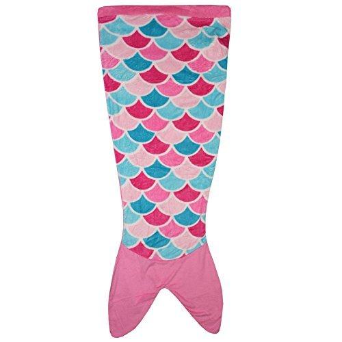 a2z 4 kids Kinder Decke Meerjungfrau-Schwanz Krokodil Einhorn Shark Weich Fleece Decken Schlaf Kostüm Tasche Kleider Einheitsgröße - Rosa, One (Schwanz Krokodil Kostüme)