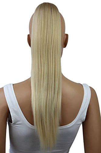 PRETTYSHOP 50cm Haarteil Zopf Pferdeschwanz glatt Haarverlängerung hitzebeständig wie Echthaar H55