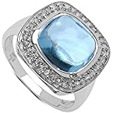 Silvancé - Women's Ring - 925 Sterling Silver - Genuine Blue Topaz - R12239BT_SSR