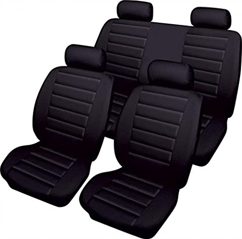 XtremeAuto Soft Sport Style Leather Look Black Styling Car Seat Covers