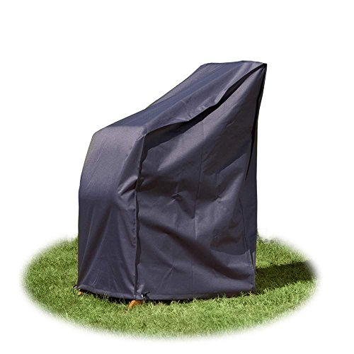 Housse/Bâche de protection de qualité supérieure pour chaises de jardin empilables 65 x 65 x 120 / 80 cm de Gartenpirat®