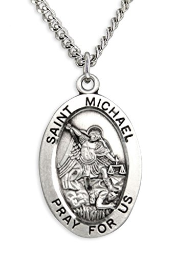 hombre-plata-de-ley-st-michael-colgante-ovalado-24-inch-interminable-cadena-de-acero-inoxidable