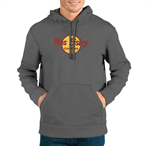 (Planet Nerd Mos Eisley Cantina - Herren Hooded Sweater, Größe: L, Farbe: grau)