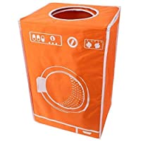 Teprovo Collapsible Laundry Basket Bin Dirt Laundry Laundry Bin, 50Litre Clothes Fbewa of 6Colours Orange