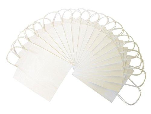 Preisvergleich Produktbild Folia 21800 - Papiertüten Kraftpapier, 18 x 8 x 21 cm, 20 Stück, weiß
