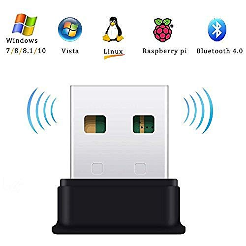 FEDUS 4.0 Bluetooth Dongle Bluetooth Adapter for PC, Laptop Desktop Computer for Windows 10, 8.1, 8, 7, Vista, XP, Linux and Raspberry PI