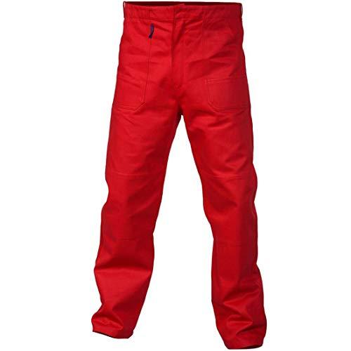 Charlie Barato® Arbeitshose Herren - waschfeste Bundhose rot (56)