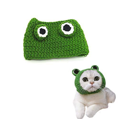rm-Haustier-Hut-Strickmütze für Katze für Halloween, Ostern, Cosplay, Partei - Grün/S ()