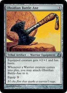 Magic: the Gathering - Obsidian Battle-Axe - Ascia da Battaglia di Ossidiana - Morningtide