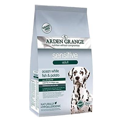 Arden Grange Adult Sensitive Grain Free Complete Dry Dog Food White Fish, 12 kg by Arden Grange
