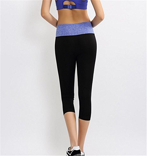 Femme étirement serré yoga pantalon / sport pantalon / Gym Blue