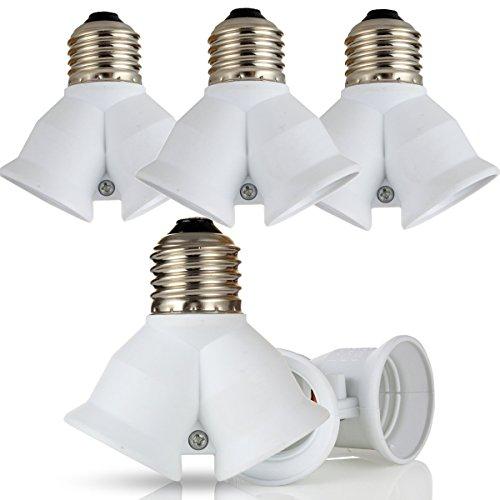 Kandelaber-buchse-adapter (GreenSun LED Lighting 5er-Set Lampenfassung Konverter E27 auf 2 E27 Y Adapter Lampensockel Fassung Sockel für LED Lampen Leuchtmittel)