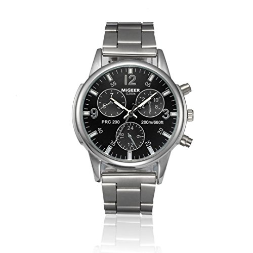 Reloj de pulsera de cuarzo analógico de acero inoxidable Crystal Cebbay Clearance Fashion Man Women