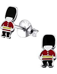 Laimons Kids Childrens' Earrings Childrens' Jewellery english soldier black, red, yellow 925 Sterling silver