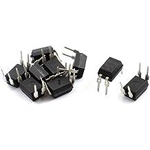 sourcingmap® 10 Stücke 2,54mm Pitch 4 Pin DIP Montage Optokoppler PC817 Plastik Metall
