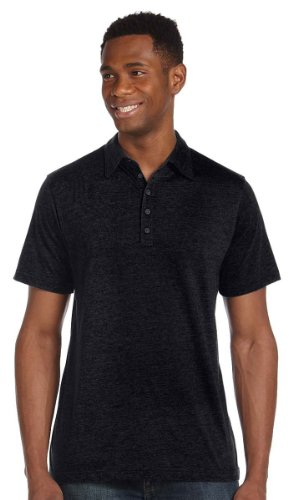 Bella Canvas Jersey 5 Button Polo Schwarz