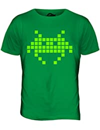 Neón Space Invader Hombre Retro camiseta Camiseta Top