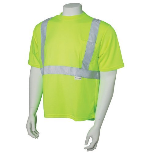 Ansi Class 2 T-shirt (Jackson Safety 20320 ANSI Class 2 Polyester Short-Sleeve High-Visibility Safety T-Shirt with Silver Retroreflective Trim, X-Large, Lime by Jackson Safety)