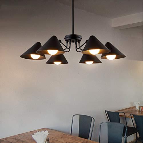 Chrom Poliert 1 Licht Anhänger (Retro Industrie Kronleuchter Restaurant Cafe Schlafzimmer Studie Kreative Kronleuchter Anhänger Licht-Energieeffizienz A + (Größe: 6 Scheinwerfer))