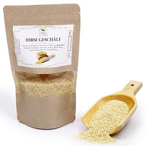 Hirse geschält | glutenfrei | Backzutaten | Brotgewürz | Premium Gewürz naturbelassen zum Backen und als Snack | 200g