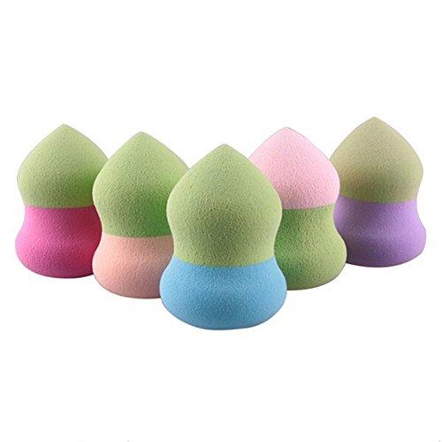 Cdet 5PCS Deux Couleurs Makeup Sponge Poudre Puff Coton Pad Eau de Goutte Maquillage Eponge Couleur Aléatoire