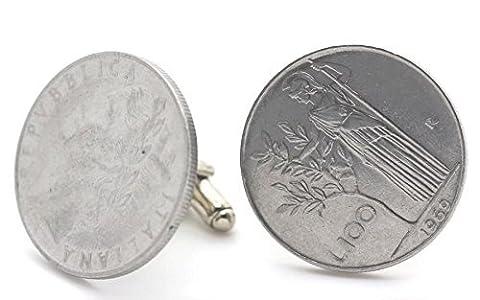 Boutons de manchette Pièce de Monnaie Authentique