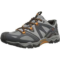 Merrell Grassbow Sport Gore-Tex®, Herren Trekking & Wanderhalbschuhe, Grau (Dark Grey/Orange), 41 EU