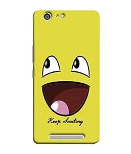 PrintVisa Designer Back Case Cover for Gionee Marathon M5 (Cartoon Fun Smiley face Icon Cute Abstract Illustration)