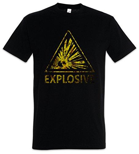 e2969c77469 Urban Backwoods Caution Explosive Vintage Logo Sign T-Shirt – explosión  Warning Danger Explosion TNT