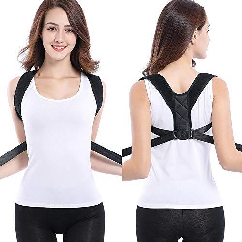 ktor Für Männer Und Frau, Einstellbar Korrekte Haltungsstütze Für Den Oberen Rücken Clavicle Support Früher Schmerzlinderung Für Hals (schwarz) ()