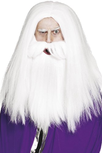 Imagen de smiffy's  disfraz de barba mago para hombre, talla única 42205
