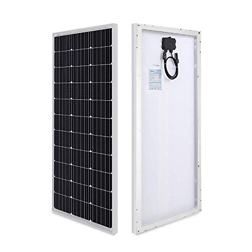 Renogy 100 Watt 12 Volt Monocrystalline Solar Panel (Compact Design) Ideal for Off Grid PV System on RV,Motorhome, Caravan, Camper or Boat