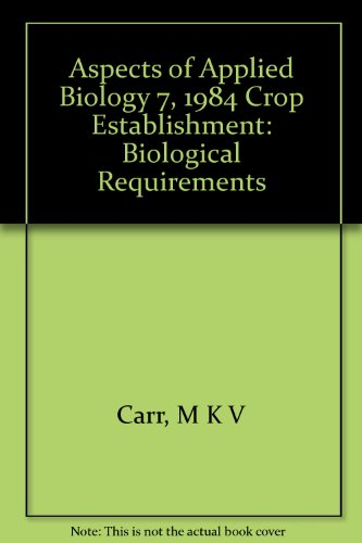 Aspects of Applied Biology 7, 1984 Crop Establishment: Biological Requirements