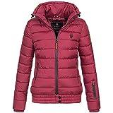 10f2c4903250 Marikoo Damen Steppjacke Winter Jacke Parka warm gefüttert Outdor Poison  XS-XXL 9-Farben