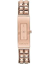 DKNY Damen-Armbanduhr Armband Edelstahl Rosarot Gehäuse + Quarz Analog NY2229