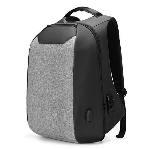 NY-close Diebstahlsicherer Gepäckrucksack, professioneller Business-Rucksack mit USB-Ladeanschluss, Multifunktionsrucksack für Bergsteiger im Freien, für 16-Zoll-Laptops geeignet (Color : Gray)