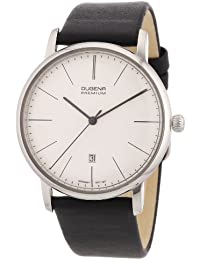 Dugena 7000032 - Reloj analógico de cuarzo para hombre con correa de piel, color negro