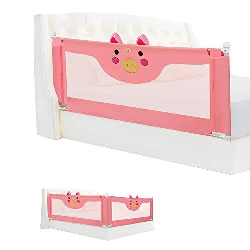 Bed guardrail HXLQ Bettzaun, Baby-FallschutzgeläNder, Tragbares Bettgitter,Kinderbett Schallwand, Geeignet FüR Full-Size-Queen-Size-Bett,FüR Baby Das Bett (1,2 M ~ 2,2 M) (Full-size-bett-möbel)