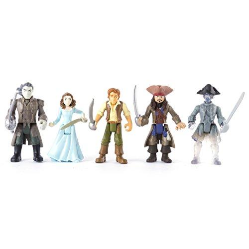Actionfiguren Fluch der Karibik, 5Stück (6037332) (Jack Sparrow Zubehör)