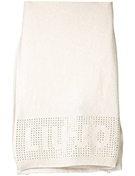 Liu Jo Schal / Strass Logo / beige Damen mit Kaschmir N65172 M0300