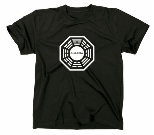 Gildan lost dharma logo-maglietta iniziativa, serie tv nero nero