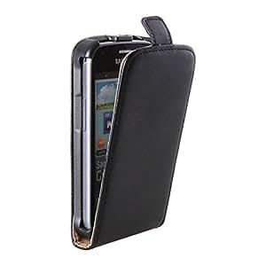 M&L Mobiles® | Etui - Flipcase noir pour Samsung Galaxy S Duos / GT-S7562 - black